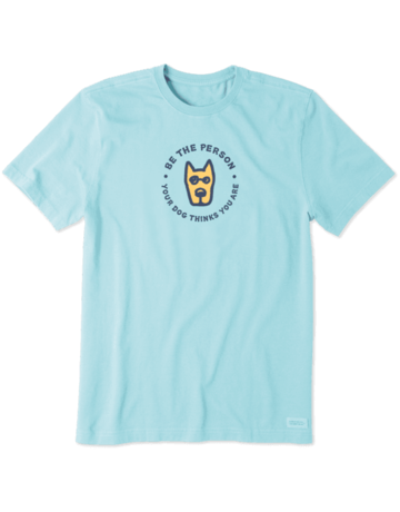 Life Is Good LIG Be the Person short-sleeved t-shirt - beach blue