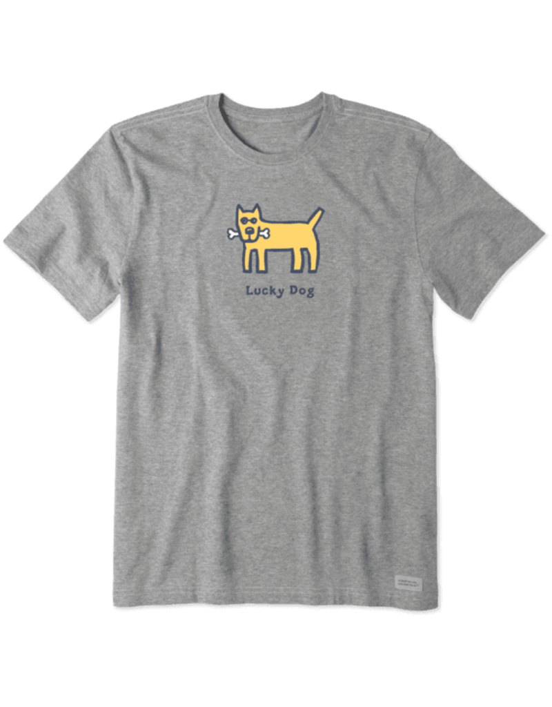 Life Is Good LIG Lucky Dog short-sleeved t-shirt - heather grey