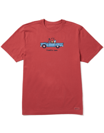 Life Is Good LIG Jake & Rocket Traffic Jam short-sleeved t-shirt - faded red