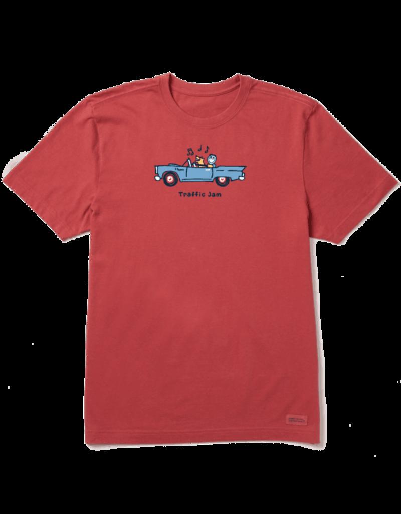Life Is Good LIG Jake & Rocket Traffic Jam short-sleeved t-shirt - faded red