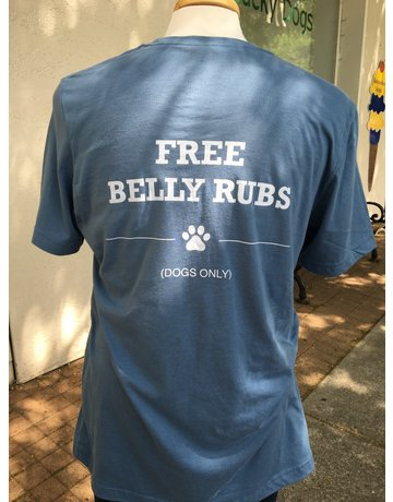 Belly Rubs short sleeved t-shirt - steel blue