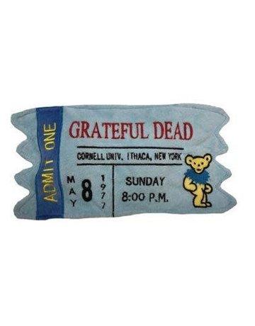 fabdog Grateful Dead Cornell '77 Concert Ticket toy