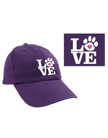 dog speak LOVE ball cap
