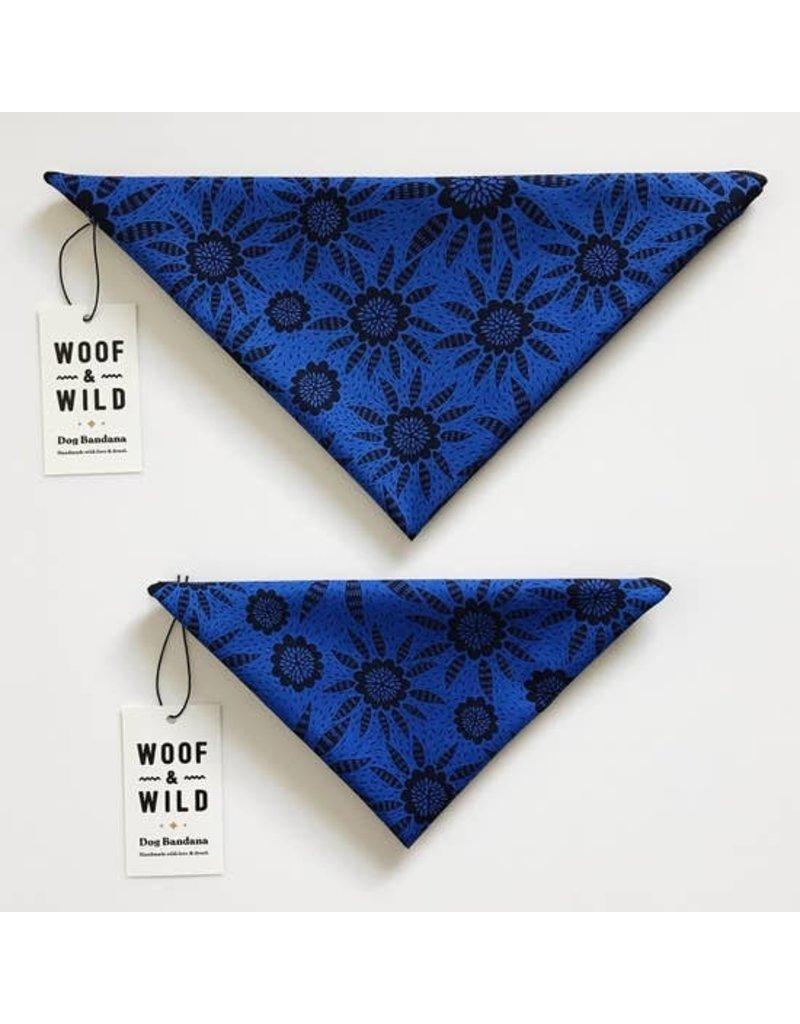 Woof and Wild Bandana - Sapphire