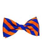 Huxley & Kent Orange & Blue Stripe bow tie