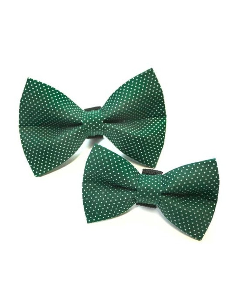 Winthrop Clothing Co. Forest Green Polka Dot bow tie