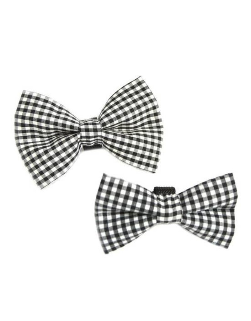 Winthrop Clothing Co. Black & White Gingham bow tie
