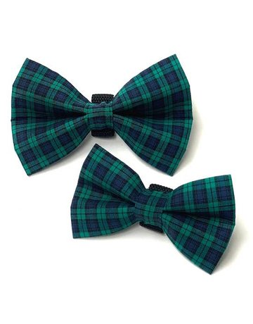 Winthrop Clothing Co. Green & Blue Plaid bow tie
