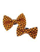 Winthrop Clothing Co. Black & Orange Check bow tie