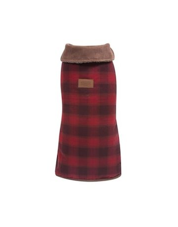 Carolina Pet Company Pendelton Red Ombre Plaid Dog Coat