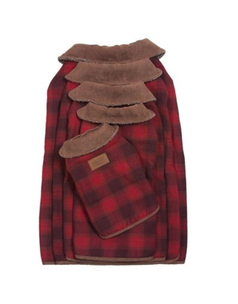 Carolina Pet Company Pendelton Red Ombre Plaid Dog Coat