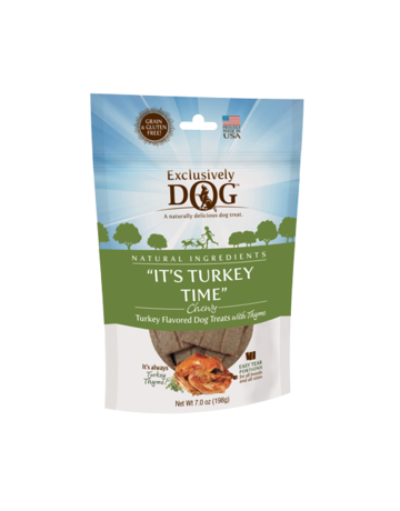 Exclusively Pet Exclusively Dog Chewy Treats It's Turkey Time 7oz