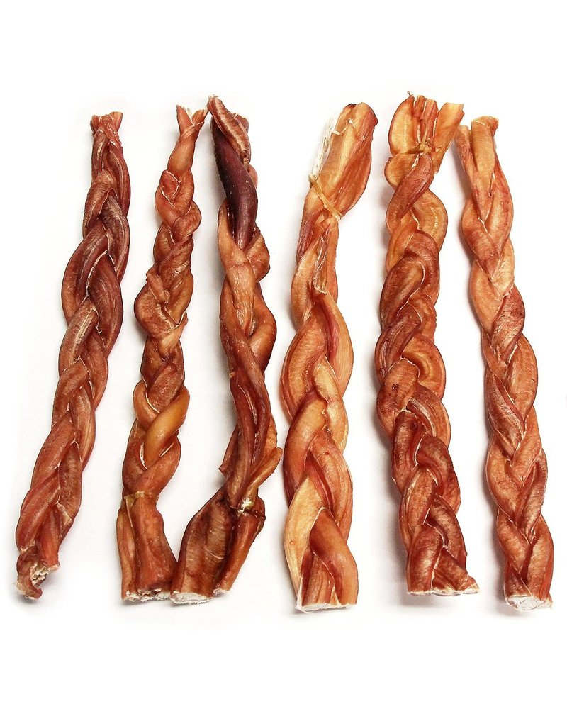"""The Natural Dog Company Bully Stick odor-free - Braided 12"""""""