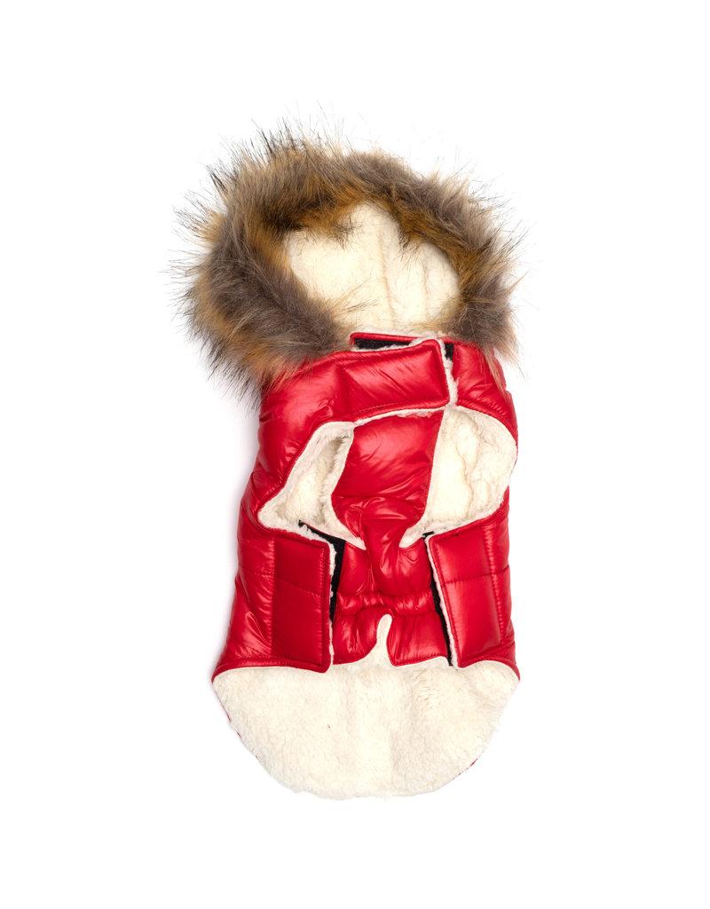 The Worthy Dog Telluride Puffer Hoodie - Scarlet