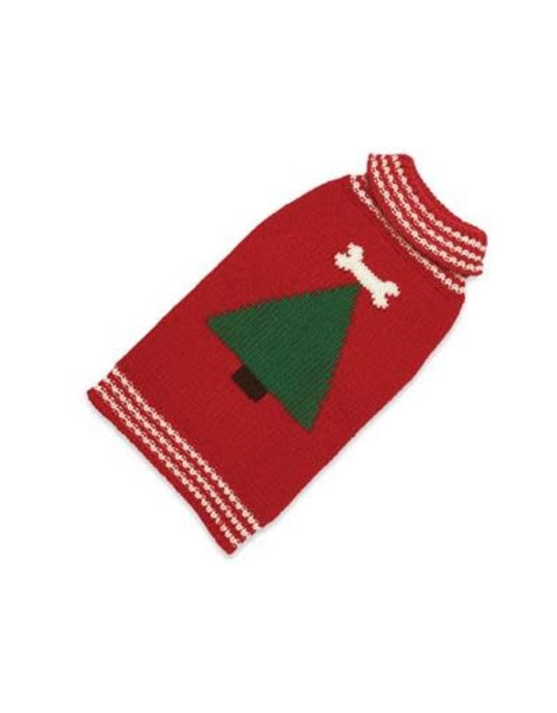 Up Country Christmas Tree hand-knit sweater