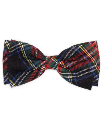The Worthy Dog Black Stewart bow tie