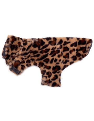 The Worthy Dog Faux Fur Coat - Leopard