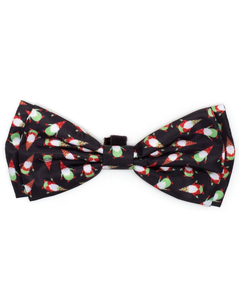 The Worthy Dog Christmas Gnomes bow tie