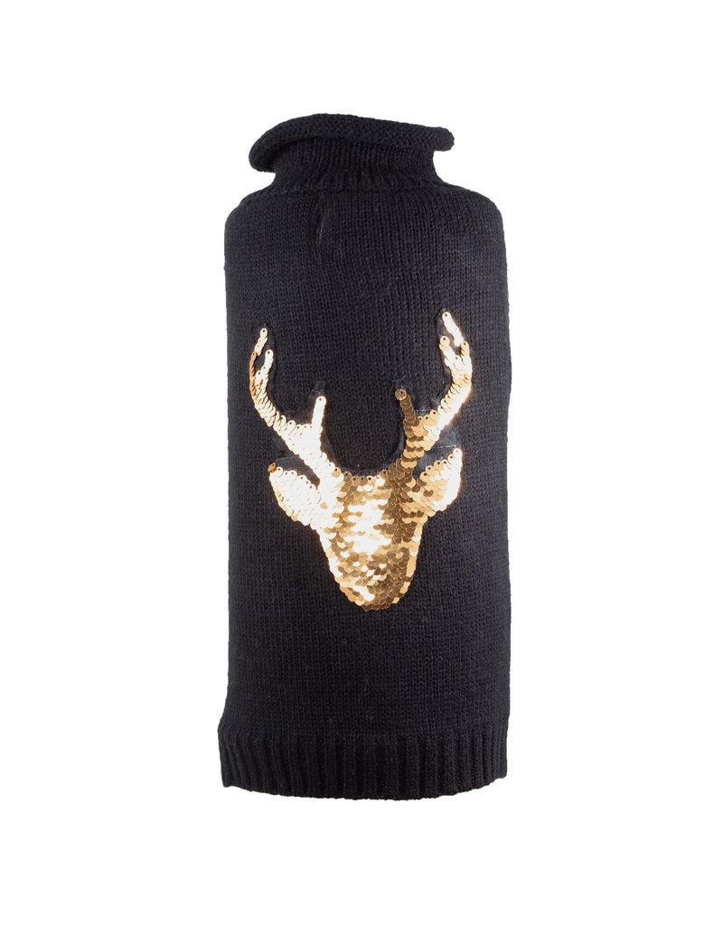 The Worthy Dog Reindeer Reversible Sequins Sweater