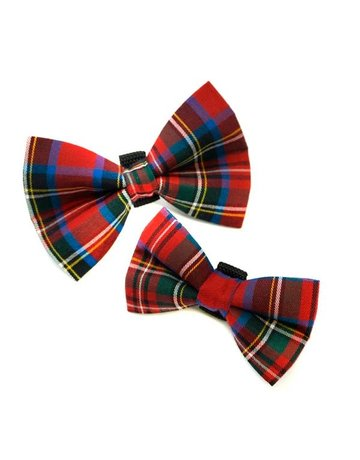 Winthrop Clothing Co. Red Tartan bow tie