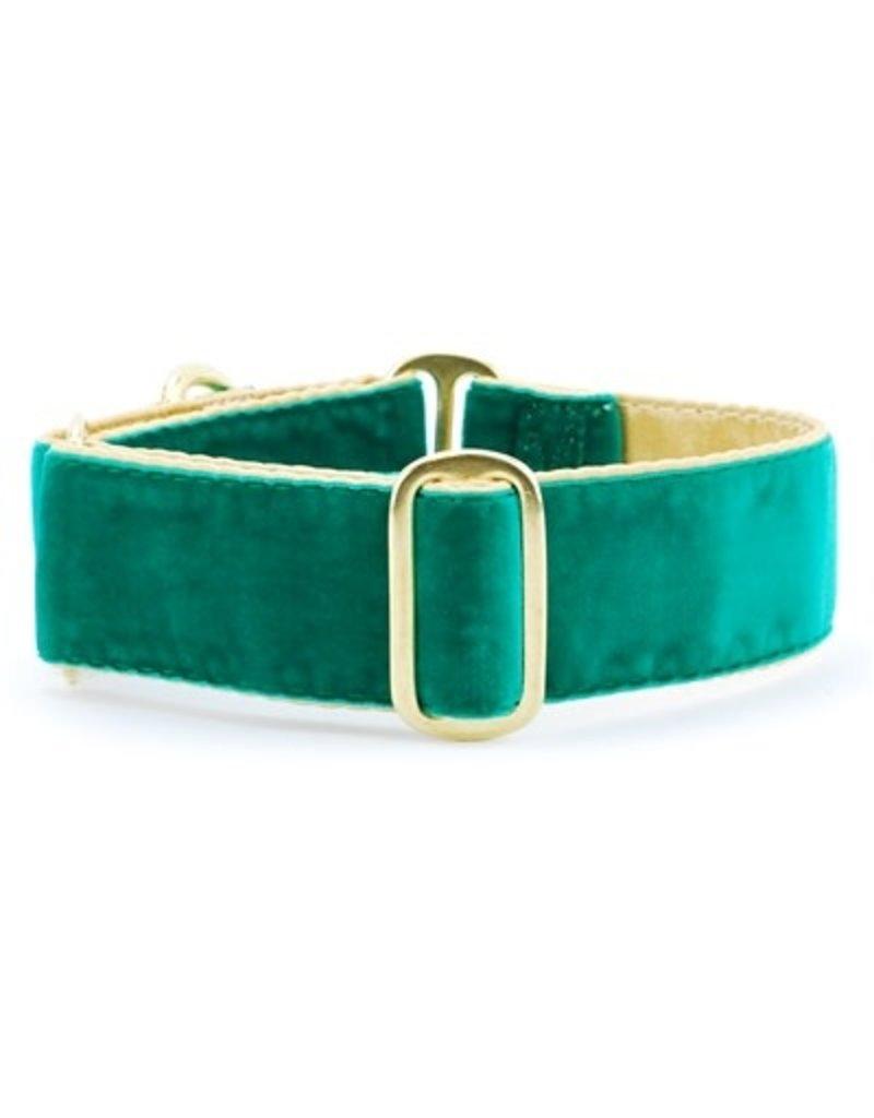 2 Hounds Design Holiday Velvet collar - Emerald