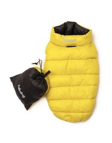 fabdog Pack-N-Go Reversible Puffer - Yellow / Grey