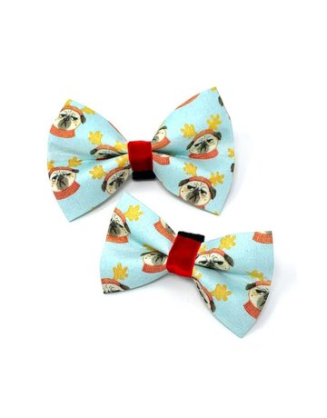 Winthrop Clothing Co. Bah Hum Pug Holiday bow tie