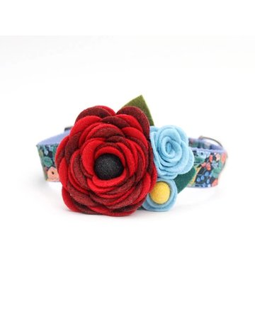 Mimi Green Mae Dog Collar Corsage