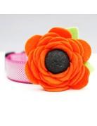 Mimi Green Dog Collar Flower: Poppy