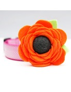 Mimi Green Poppy Dog Collar Flower