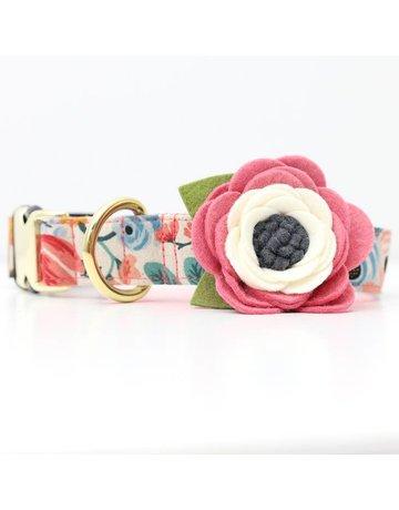 Mimi Green Dog Collar Flower: Wildflower