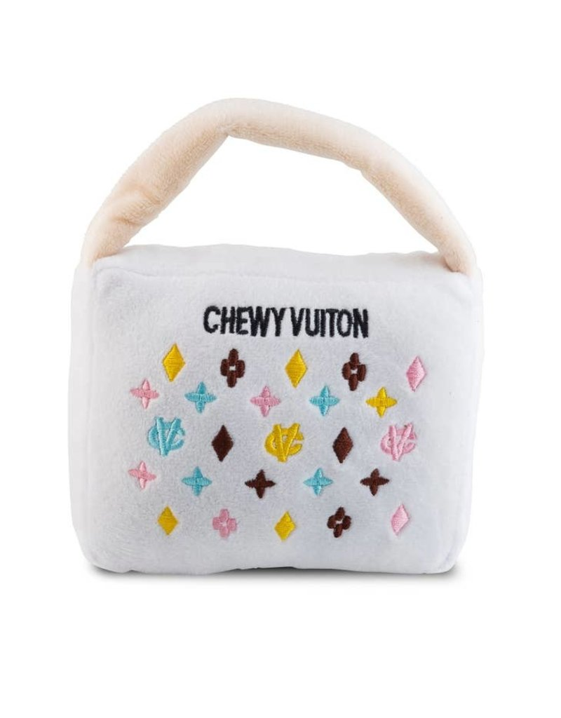 Haute Diggity Dog Chewy Vuiton White Purse toy