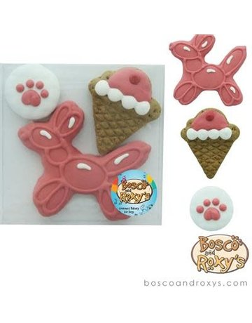 Bosco & Roxy's Birthday Gift Box - set of 3 cookies