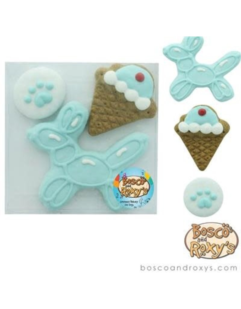 Bosco & Roxy's Birthday Gift Box - set of 3 cookies