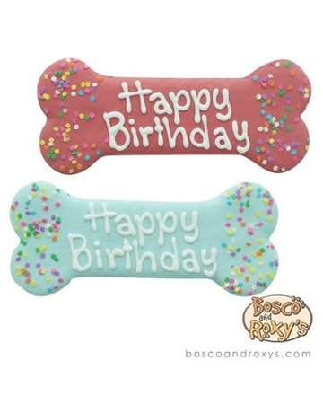 Bosco & Roxy's Birthday Bone cookie 8""