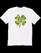 Life Is Good Women's LIG Tie-Dye Shamrock t-shirt - white