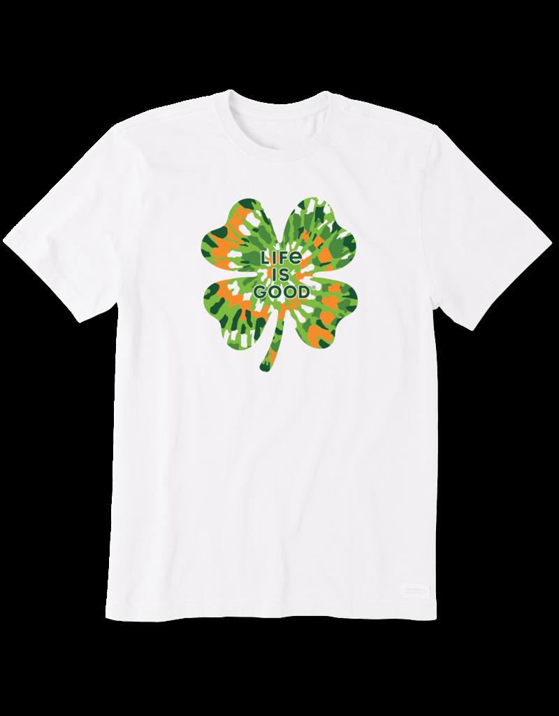 Life Is Good LIG Tie-Dye Shamrock t-shirt - white