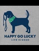 Life Is Good Women's LIG Happy Go Lucky t-shirt - grey