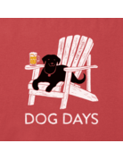 Life Is Good LIG Dog Days Beer t-shirt - faded red