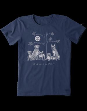 Life Is Good Womens LIG Dog Lover t-shirt - dusty blue