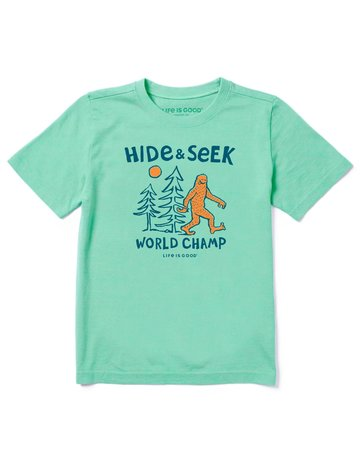 Life Is Good KIDS LIG Hide & Seek Champ t-shirt - sport green