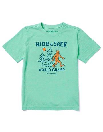 Life Is Good KIDS LIG Hide & Seek Champ t-shirt - sport green