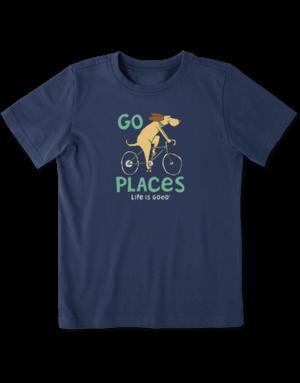 Life Is Good KIDS LIG Go Places t-shirt - dusty blue