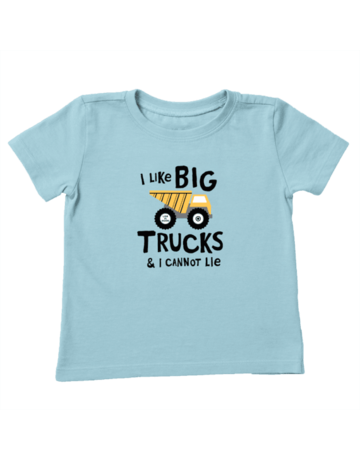 Life Is Good TODDLER LIG I Like Big Trucks t-shirt - beach blue