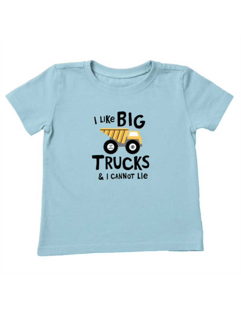 Life Is Good TODDLER LIG I Like Big Trucks t-shirt - beach blue