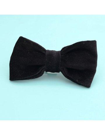 Mimi Green Bow Tie Velveteen