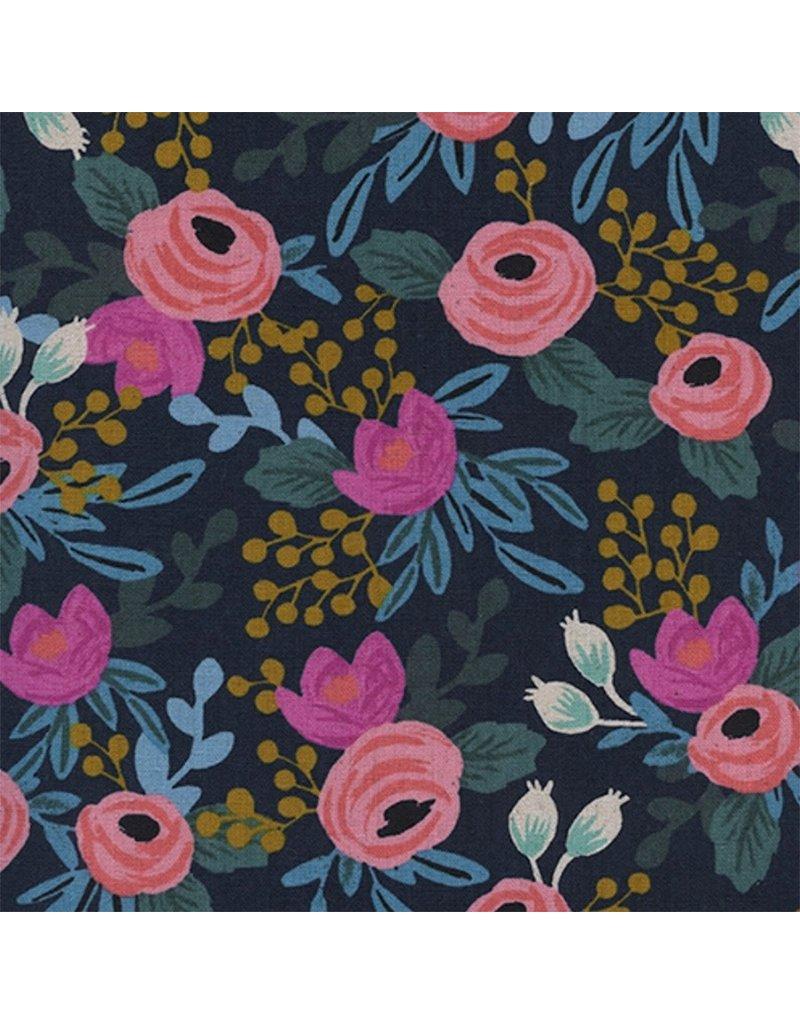 Mimi Green Rifle Paper Co Fleur Midnight (on raspberry)