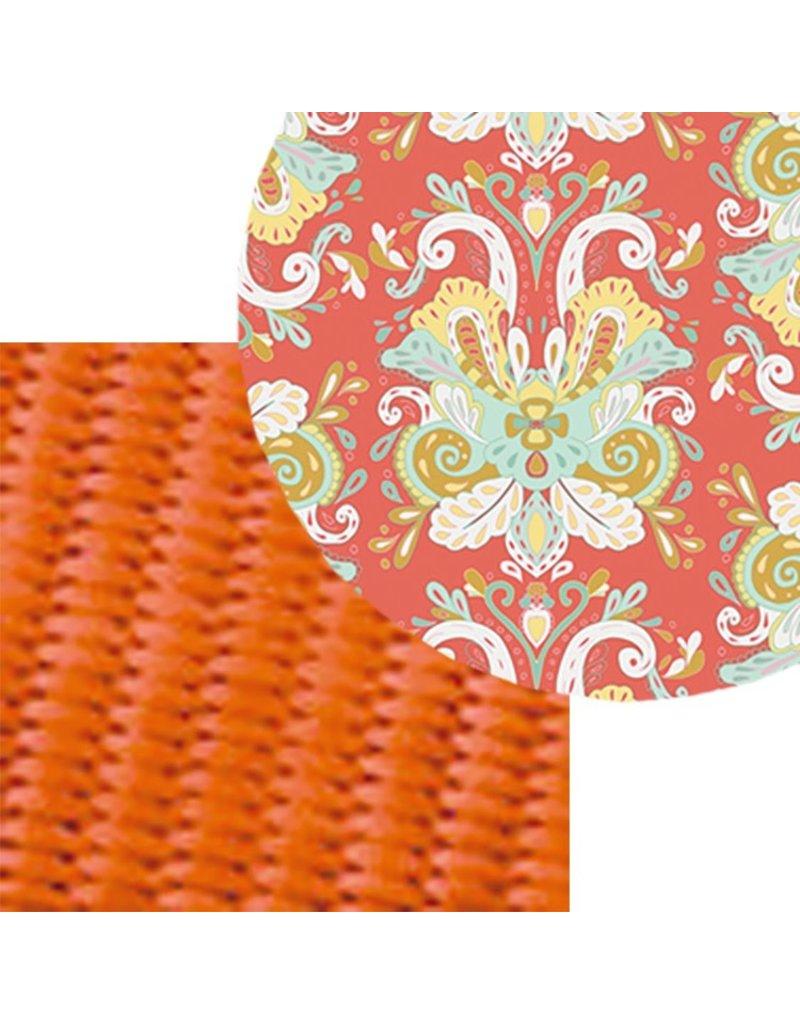 Mimi Green Orange Paisley