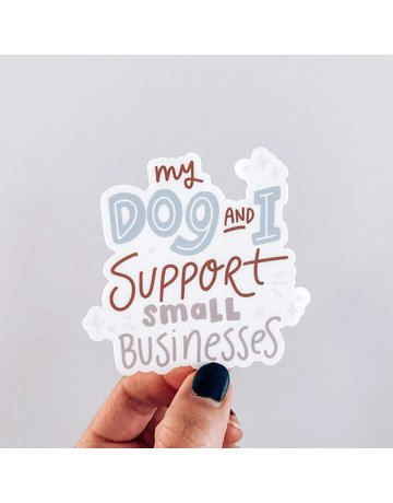 Modern Companion My Dog & I Support Small Business decal