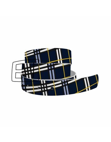 C4 Belts C4 Navy Plaid collar